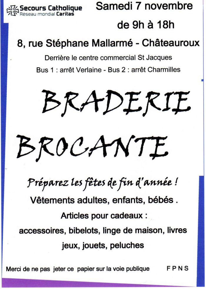 Braderie / brocante du Secours Catholique - , .JPG 197Ko ()